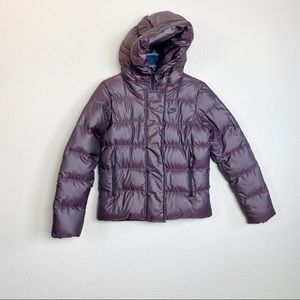Nike 550 Duck Down Metallic Purple Jacket Small